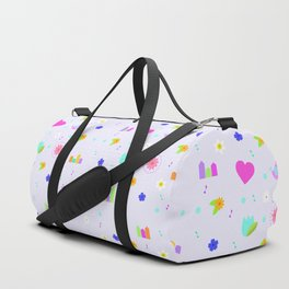 Music Violet pattern Duffle Bag