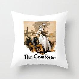 The Comforter -- Red Cross Nurse Throw Pillow