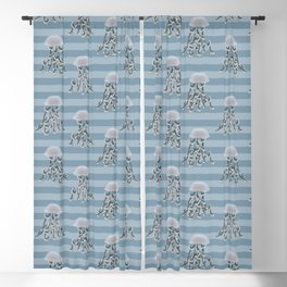 Jellyfish elegance Blackout Curtain