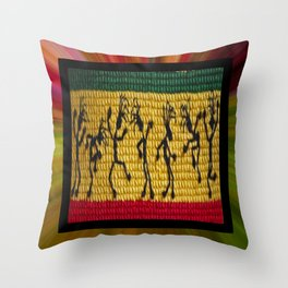 lively up reggae dancers Throw Pillow
