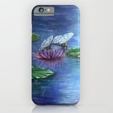 Dragonflies and water lilies iPhone 6s Slim Case