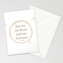 You are my Rock and my Fortress Stationery Cards