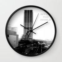atlanta Wall Clocks featuring Rebirth Atlanta by Invert The World