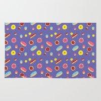 doughnut Area & Throw Rugs featuring Doughnut Pattern by Diana Willett