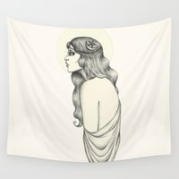 luna Wall Tapestries featuring Luna by Caitlin McCarthy