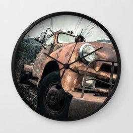Rusty Road Wall Clock