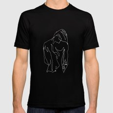 minimal drawing  MEDIUM Black Mens Fitted Tee