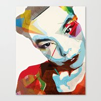 bjork Canvas Prints featuring Bjork by Zaneta Antosik