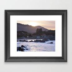 Sunset Over the Mountain Framed Art Print