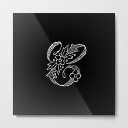 C Monogram Metal Print