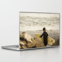 surfer Laptop & iPad Skins featuring Surfer by Sam Cockayne