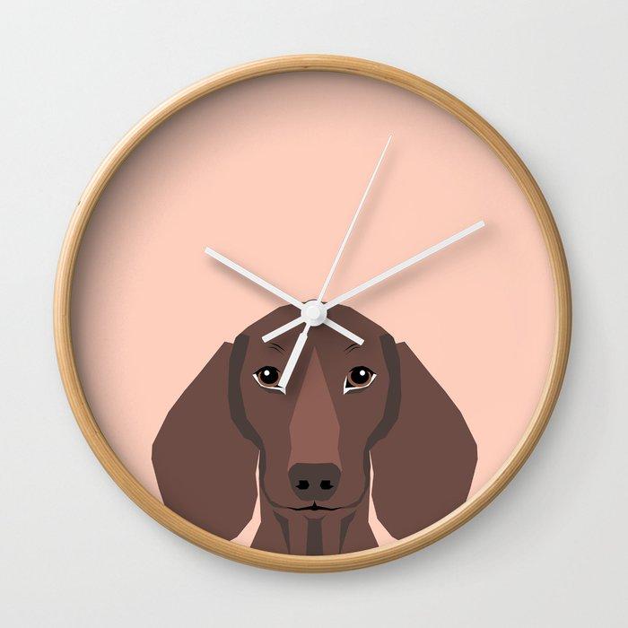 Remy   Daschund Hipster Dog, Doxie, Weiner Dog, Wiener Dog, Wall Clock