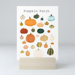 Pumpkin Patch Season Mini Art Print