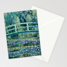 Claude Monet - Water Lilies And Japanese Bridge Stationery Cards