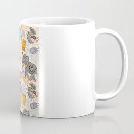 Hand Drawn illustration. Elephant. Indian style. Coffee Mug