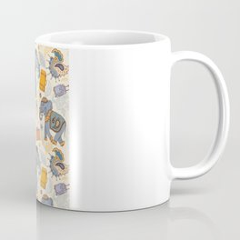 Hand Drawn illustration. Elephant. Indian style. Coffee Mug