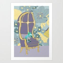 Dog in a chair #4 French Bulldog Art Print