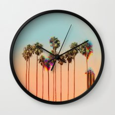 Glitch beach Wall Clock
