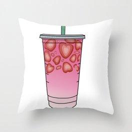Starbucks Inspired Pink Drink Throw Pillow