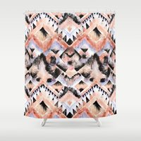 southwest Shower Curtains featuring Southwest Floral by Casey Saccomanno