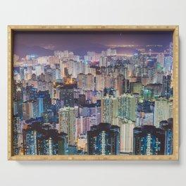 Hong Kong Skyline Serving Tray