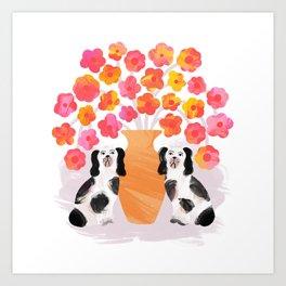 Spring Fling – Dogs Art Print