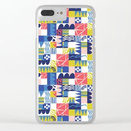 Geometric Playground Clear iPhone Case