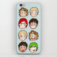 talking heads iPhone & iPod Skins featuring Heads by gabitozati