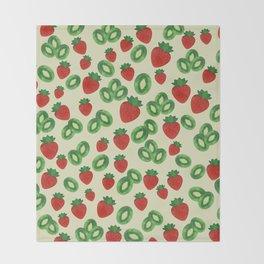 Strawberries and Kiwis Throw Blanket
