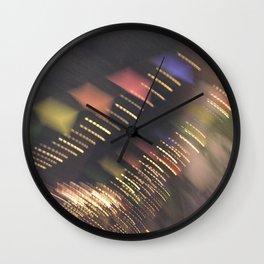 Lights and Pennants Wall Clock