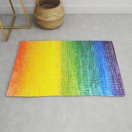 colourful rainbow feeling good Rug