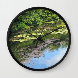 Reflections in a Pond Wall Clock