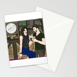 Roni (Regina) and Robin at Roni's Bar & Grill - Once Upon A Time Stationery Cards
