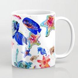 Sea World,Underwater Scene coral sea, beach tropical ocean sea beach house design Coffee Mug