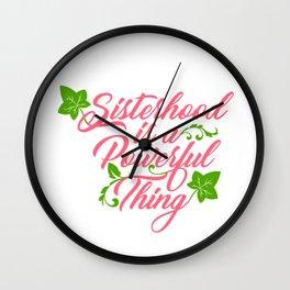 Sisterhood is a Powerful Thing (Ivy Leaf Edition) Wall Clock