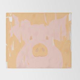 Little piglet Throw Blanket