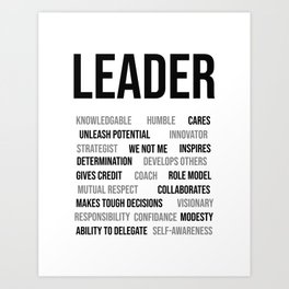 Leader Characters, Office Decor Ideas, Wall Art Art Print