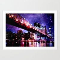 new york Art Prints featuring New York New York by WhimsyRomance&Fun