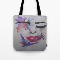 splatter Tote Bags featuring Splatter. by TheArtOfFaithAsylum