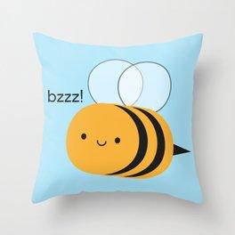 Kawaii Buzzy Bumble Bee Throw Pillow