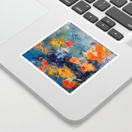 Orange Fish Sticker