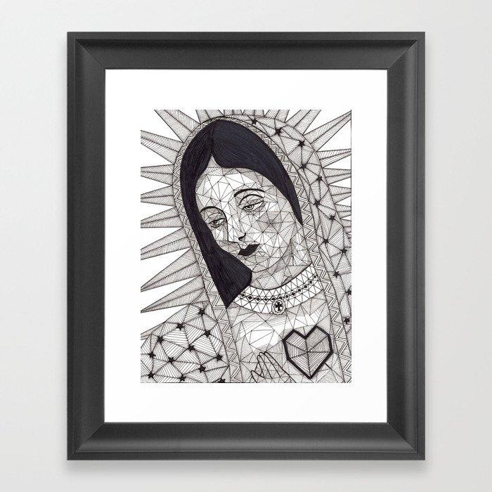 Virgen De Guadalupe Framed Art Print By Yolyortizcastaeda Society6