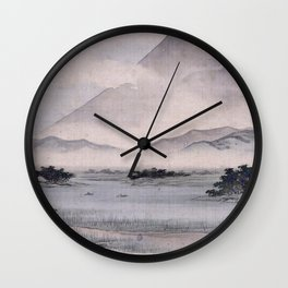 Utagawa Hiroshige - Fuji Marsh, Suruga province Wall Clock