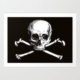 Skull and Crossbones   Jolly Roger Art Print