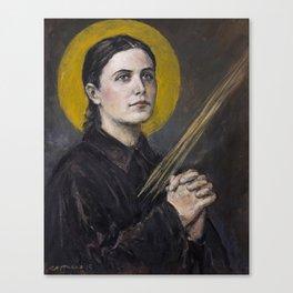 Santa Gemma Galgani Canvas Print