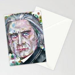 FRANZ LISTZ - watercolor portrait.1 Stationery Cards