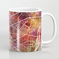 washington Mugs featuring Washington by MapMapMaps.Watercolors
