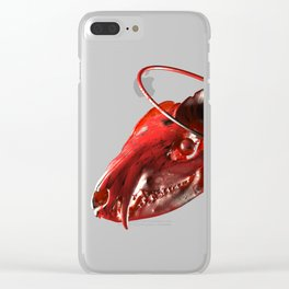 3D blood animal Clear iPhone Case