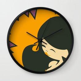 China-Girl in Orange Wall Clock