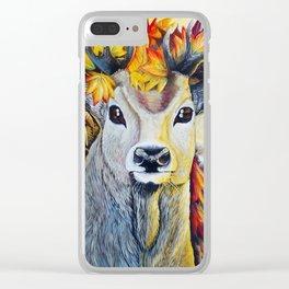 Autumn Deer Clear iPhone Case